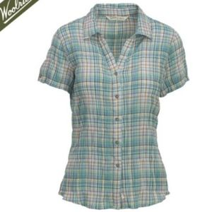 NEW Woolrich Carrabelle Short Sleeve Plaid Shirt